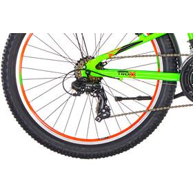 s'cool troX urban 24 21-S Børnecykel grøn